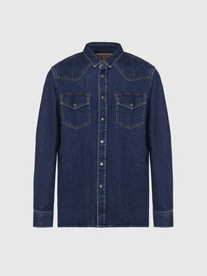 D-EAST-P, Dark Blue - Denim Shirts