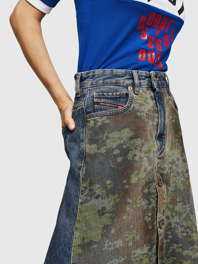 Diesel - DE-SHIRLEY, Medium blue - Skirts - Image 5