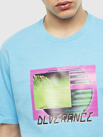 Diesel - T-JUST-NEON-S1, Azure - T-Shirts - Image 5