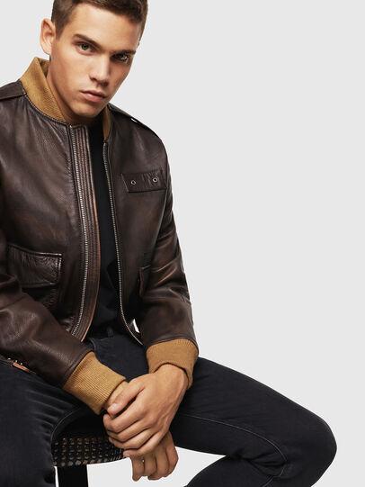 Diesel - L-OIUKI,  - Leather jackets - Image 4
