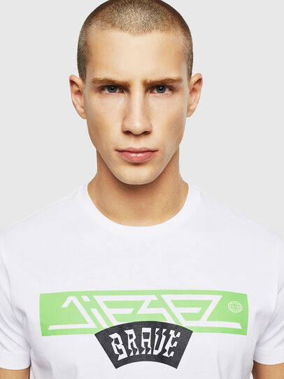 Diesel - T-DIEGO-A1, White - T-Shirts - Image 3