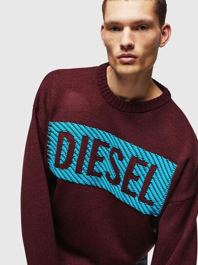Diesel - K-LOGOX-C, Bordeaux - Knitwear - Image 3