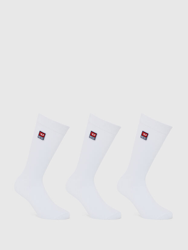 SKM-RAY-THREEPACK, White - Socks