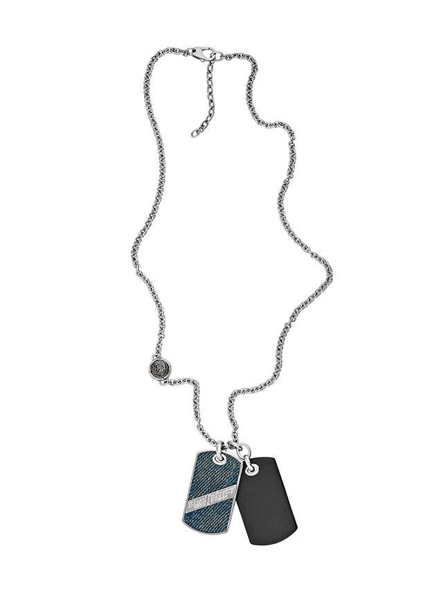 Diesel - NECKLACE DX1031, Blue Jeans - Necklaces - Image 1