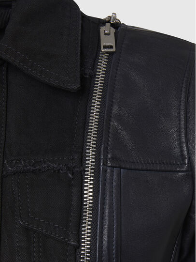 Diesel - L-LAZAY, Black - Leather jackets - Image 6