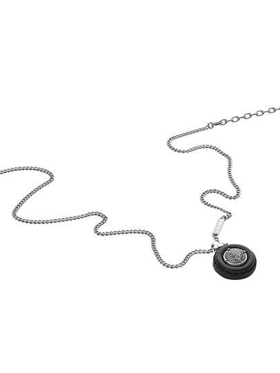 Diesel - NECKLACE DX1022, Silver - Necklaces - Image 2