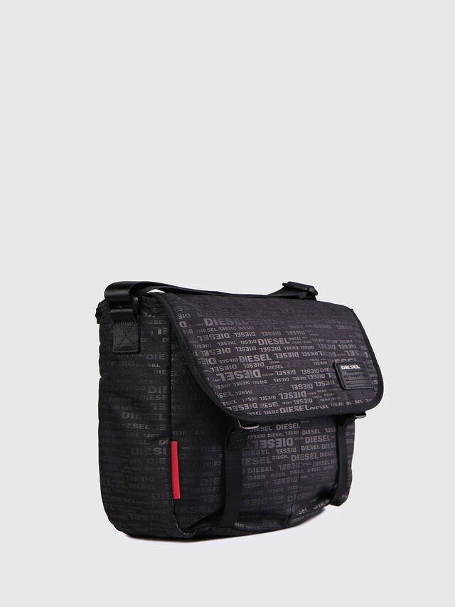 Diesel - F-DISCOVER MESSENGER, Black/Red - Crossbody Bags - Image 2