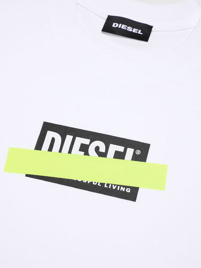 Diesel - TJUSTDIXB-R, White - T-shirts and Tops - Image 3