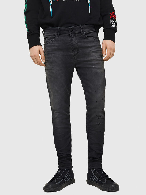 Spender JoggJeans 069GN, Black/Dark grey - Jeans
