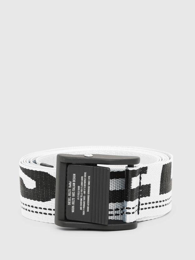 B-MASER, White/Black - Belts
