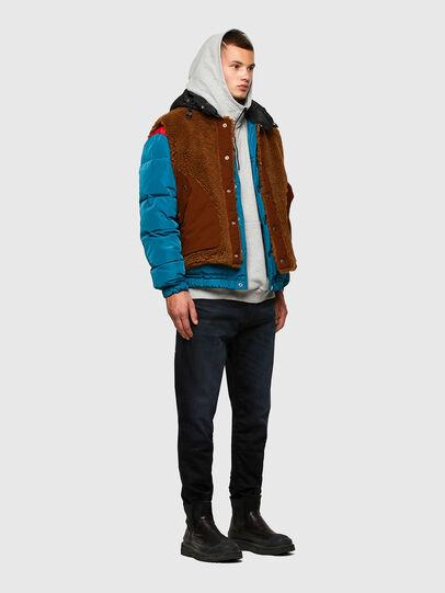 Diesel - W-HEROESY, Blue/Brown - Winter Jackets - Image 7