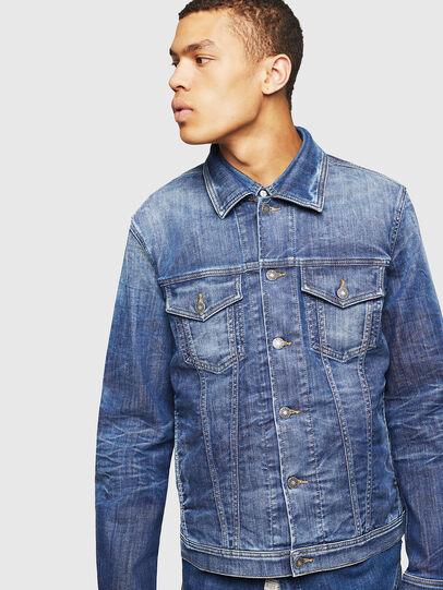 Diesel - NHILL-TW, Blue Jeans - Denim Jackets - Image 1