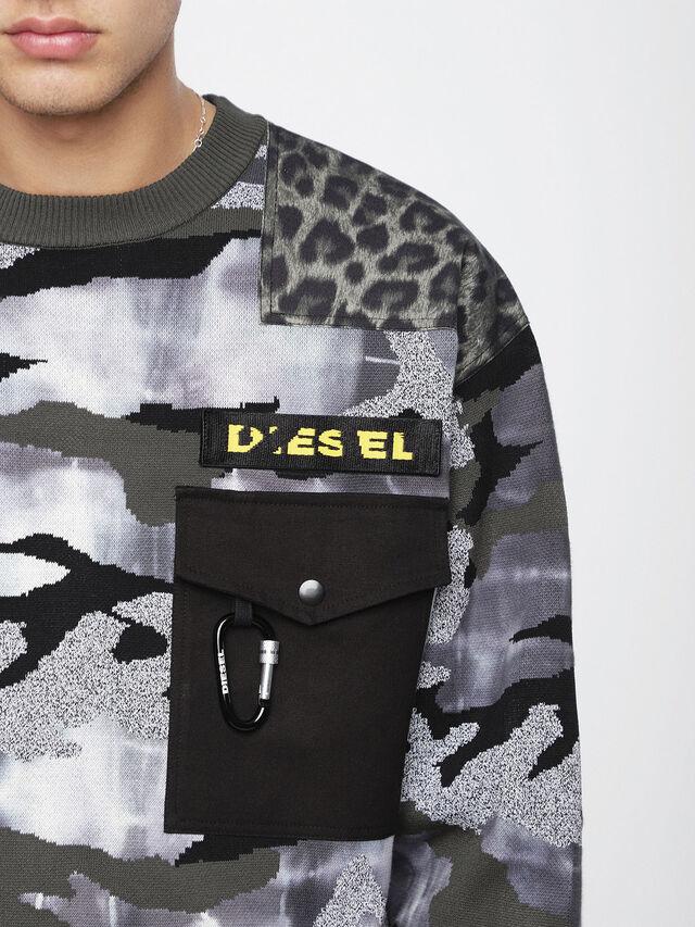 Diesel K-CAMOU-E, Military Green - Knitwear - Image 3