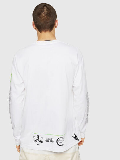 Diesel - T-JUST-LS-NEW, White - T-Shirts - Image 2