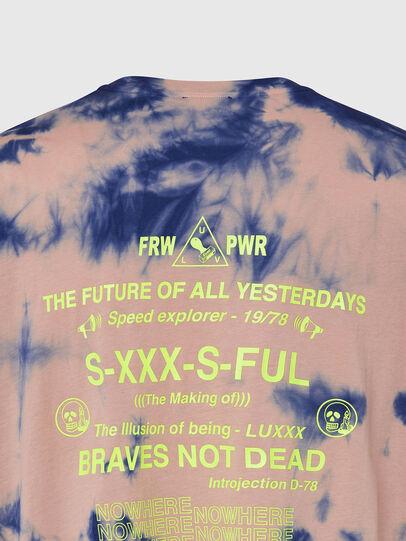Diesel - T-JUST-SLITS-X86, Pink/Blue - T-Shirts - Image 4