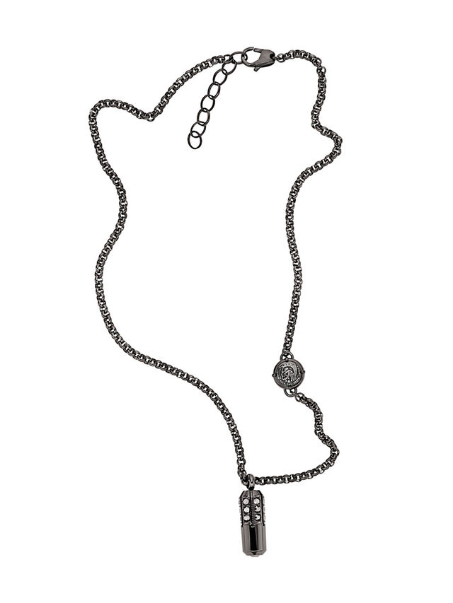 Diesel - NECKLACE DX1026, Dark Grey - Necklaces - Image 1