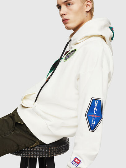 Diesel - S-ALBY-PATCHES, White - Sweaters - Image 4