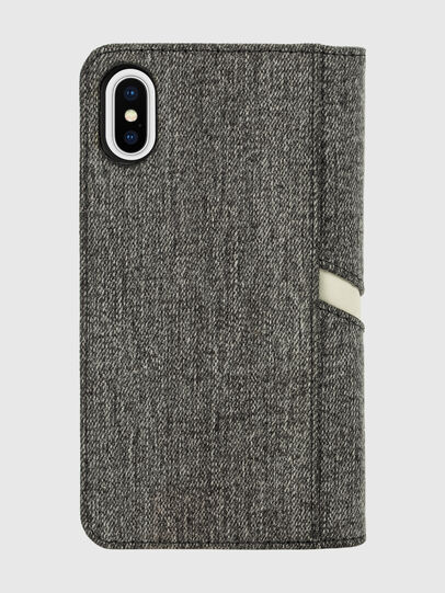 Diesel - DIESEL 2-IN-1 FOLIO CASE FOR IPHONE XS & IPHONE X, Grey - Flip covers - Image 2