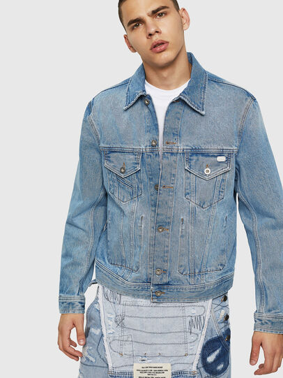 Diesel - D-BRAY, Light Blue - Denim Jackets - Image 1