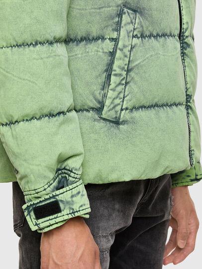 Diesel - W-EVACID, Green Fluo - Winter Jackets - Image 5