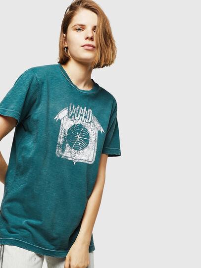 Diesel - T-FLAVIA-IC, Blue - T-Shirts - Image 4