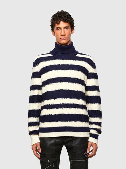 Diesel - K-BRENTON, Blue/White - Knitwear - Image 1