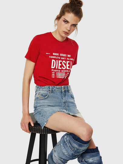 Diesel - T-SILY-ZF, Fire Red - T-Shirts - Image 4