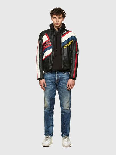 Diesel - L-POWER, Black/White - Leather jackets - Image 4