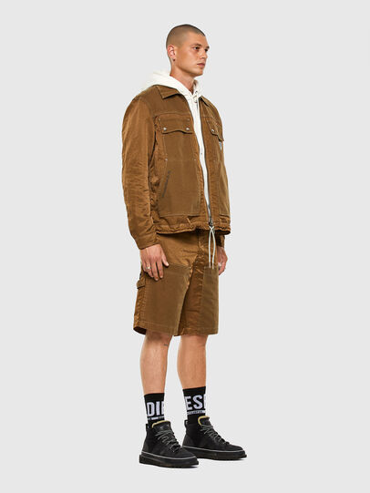 Diesel - P-TRENT-SHORT, Light Brown - Shorts - Image 5