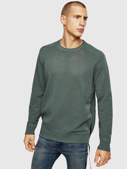Diesel - K-RIO, Olive Green - Knitwear - Image 1