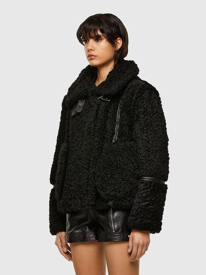 Diesel - L-EYRE, Black - Leather jackets - Image 7