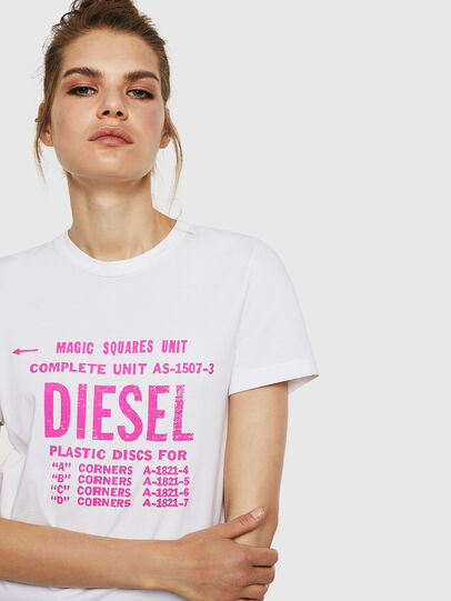 Diesel - T-SILY-ZF, White - T-Shirts - Image 3