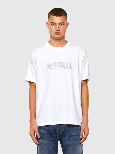 Diesel - T-JUST-SLITS-X85, White - T-Shirts - Image 5