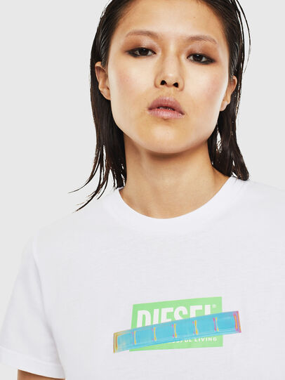 Diesel - T-SILY-S2, White - T-Shirts - Image 3