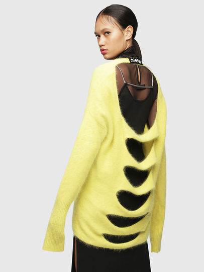 Diesel - M-GIORGIA, Yellow Fluo - Knitwear - Image 2