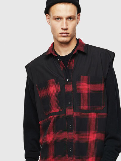Diesel - D-WELLES, Black - Denim Shirts - Image 5