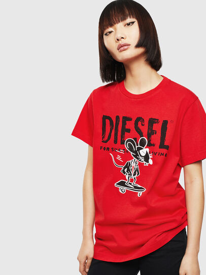 Diesel - CL-T-DIEGO-1, Red - T-Shirts - Image 2