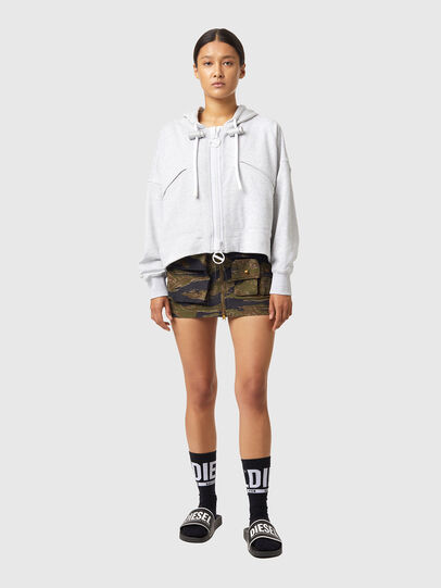Diesel - F-CROPPY-ZIP, Light Grey - Sweaters - Image 4