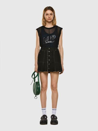 Diesel - O-BETH-B, Black - Skirts - Image 5