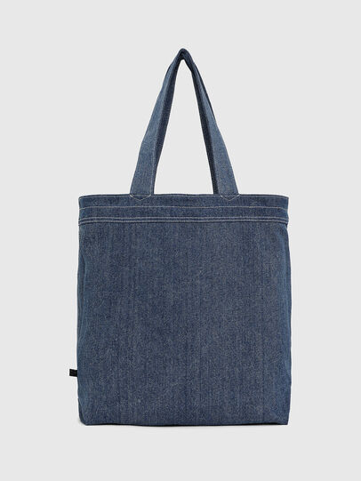 Diesel - F-THISBAG SHOPPER NS, White/Blue - Shopping and Shoulder Bags - Image 4