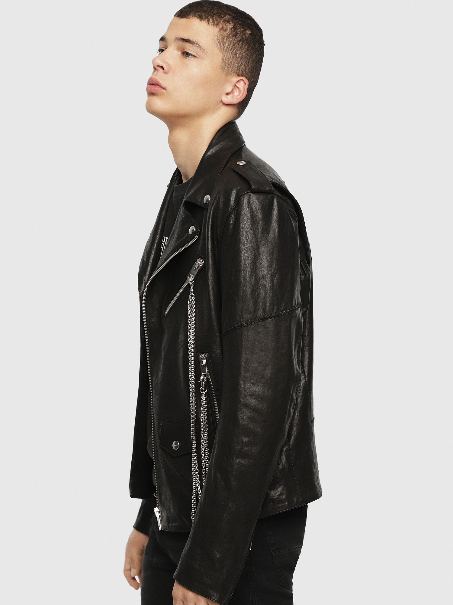 Diesel - SE-LEANDRO,  - Leather jackets - Image 3