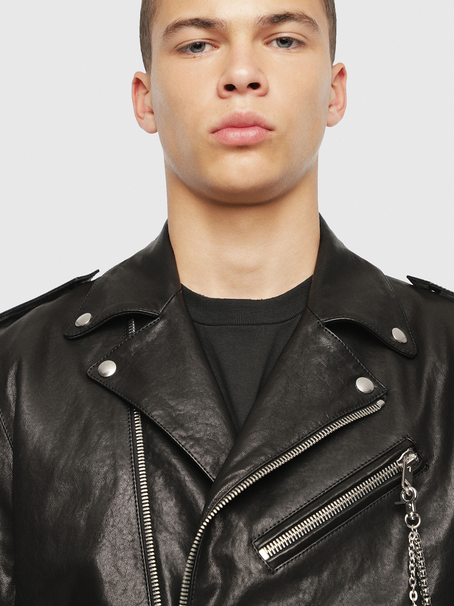 Diesel - SE-LEANDRO,  - Leather jackets - Image 5