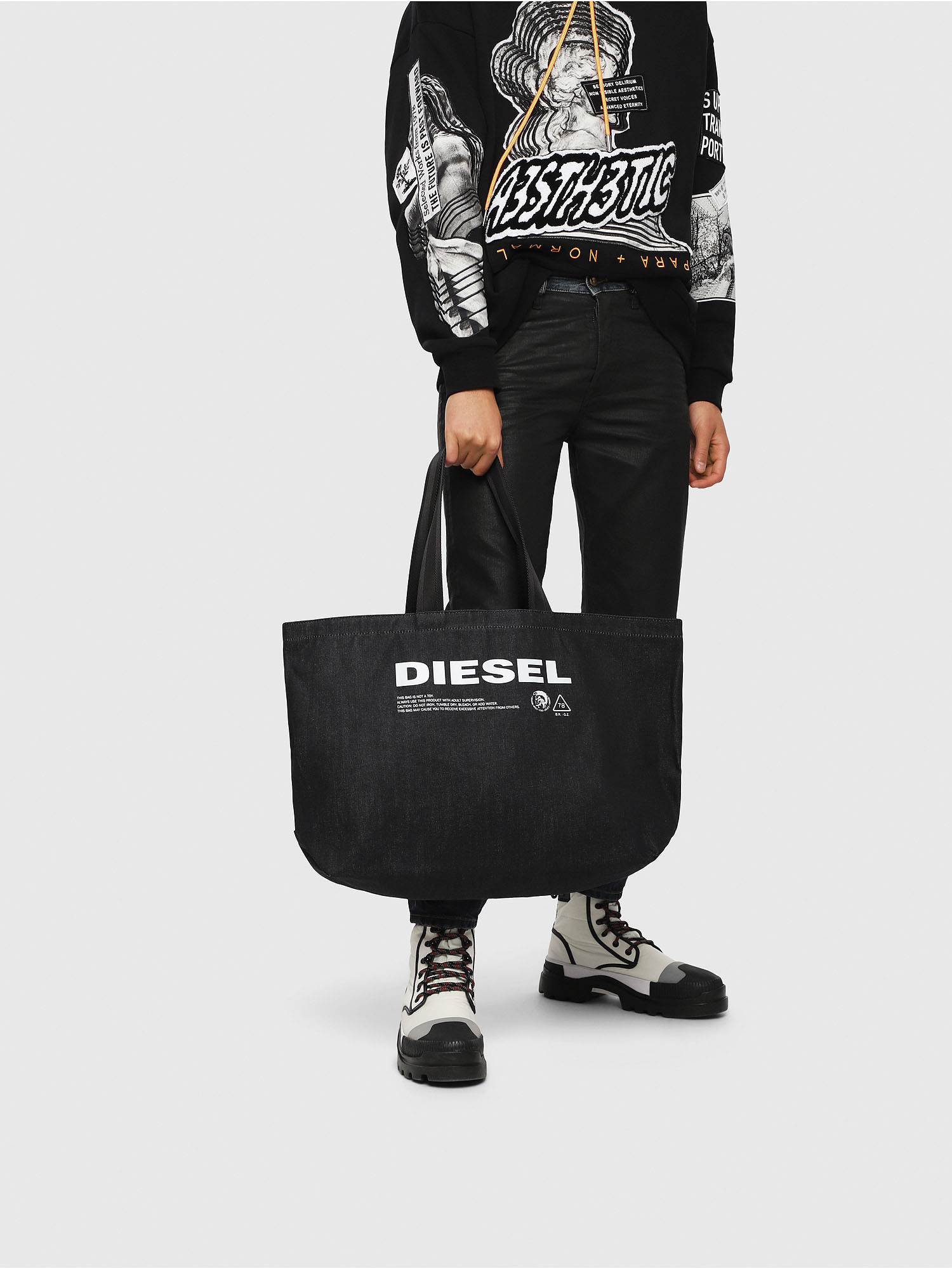 Diesel - D-THISBAG SHOPPER L,  - Shopping and Shoulder Bags - Image 5
