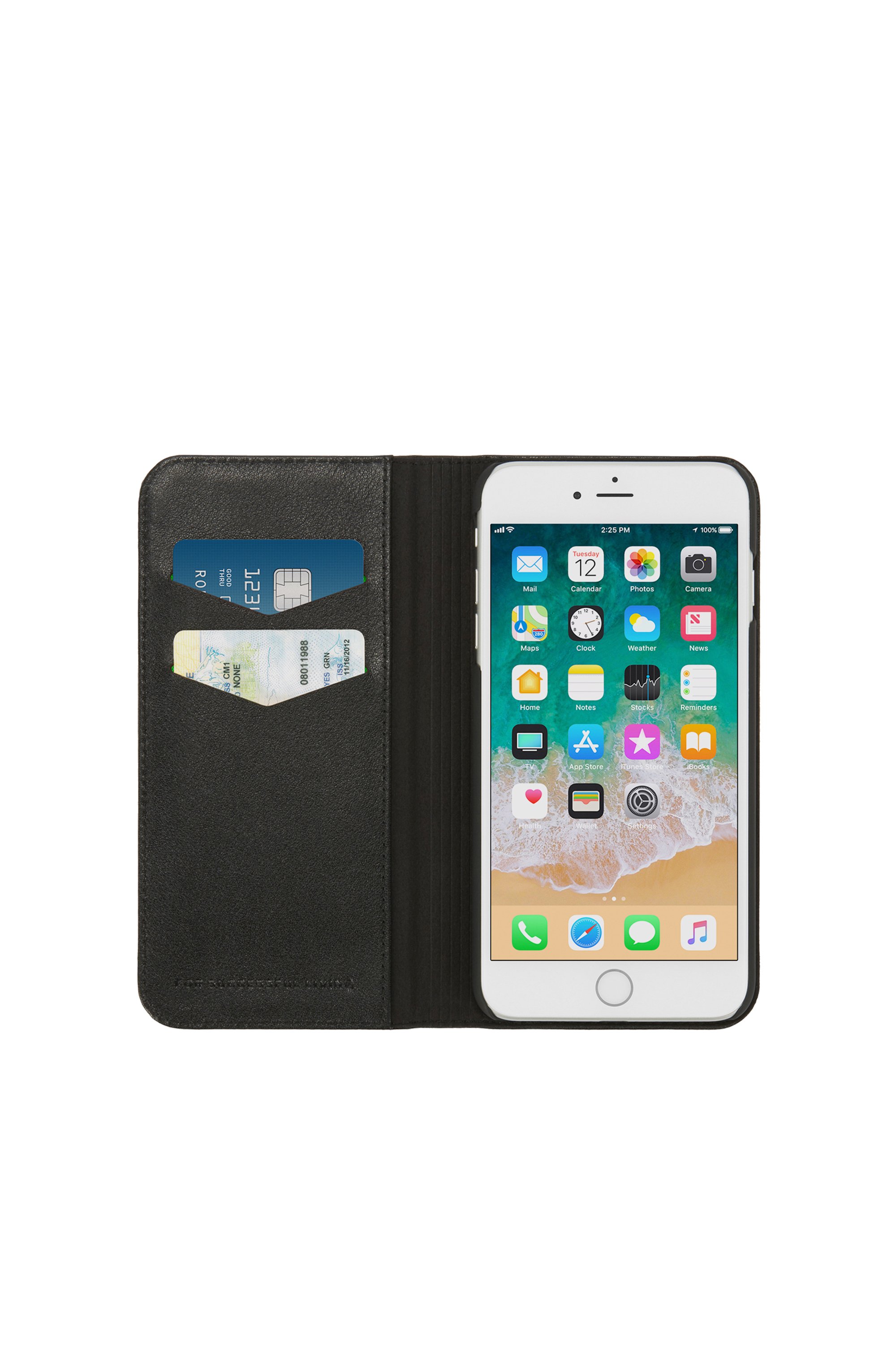 Diesel - SLIM LEATHER FOLIO IPHONE 8/7,  - Flip covers - Image 6