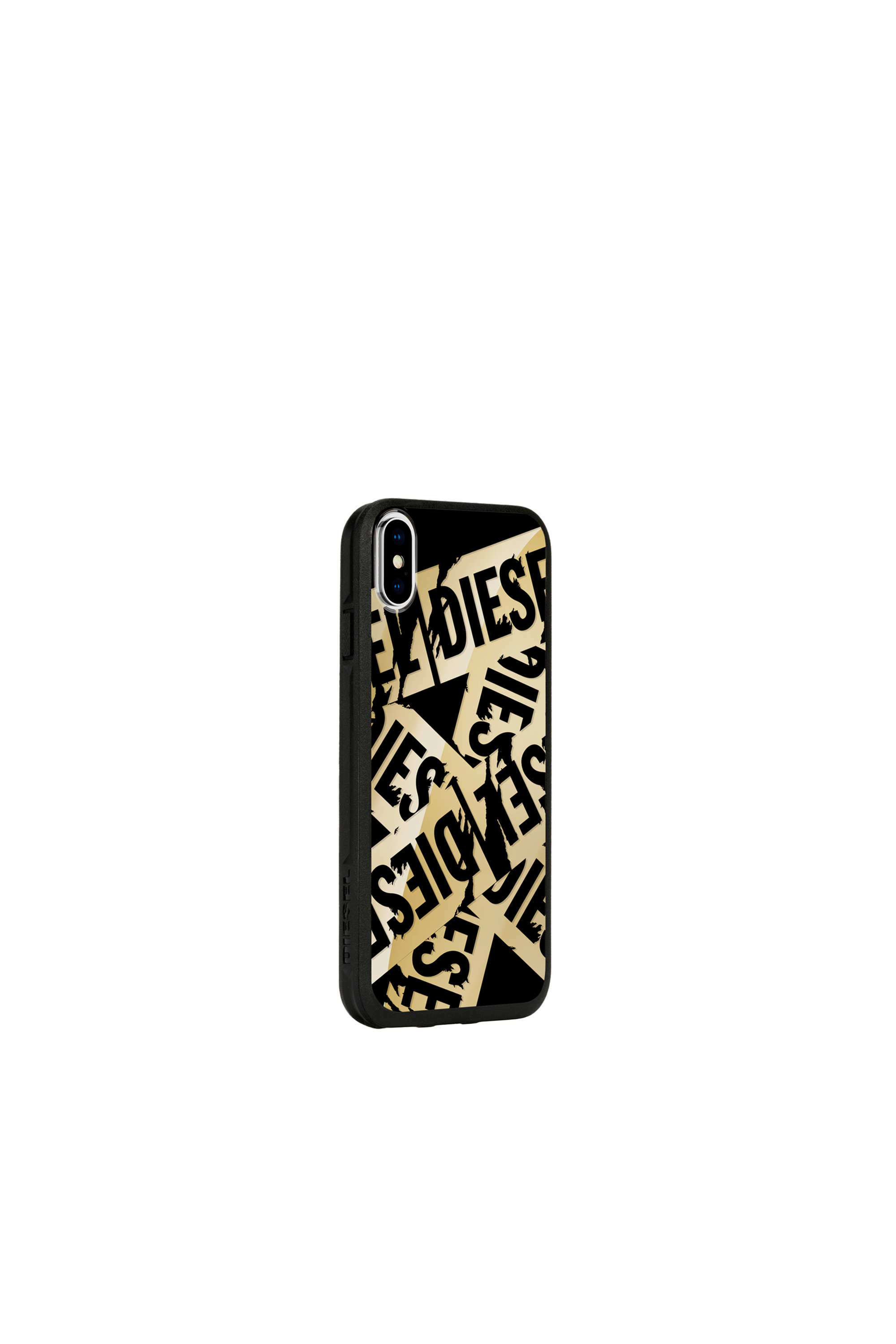 Diesel - MULTI TAPE GOLD/BLACK IPHONE X CASE,  - Cases - Image 6